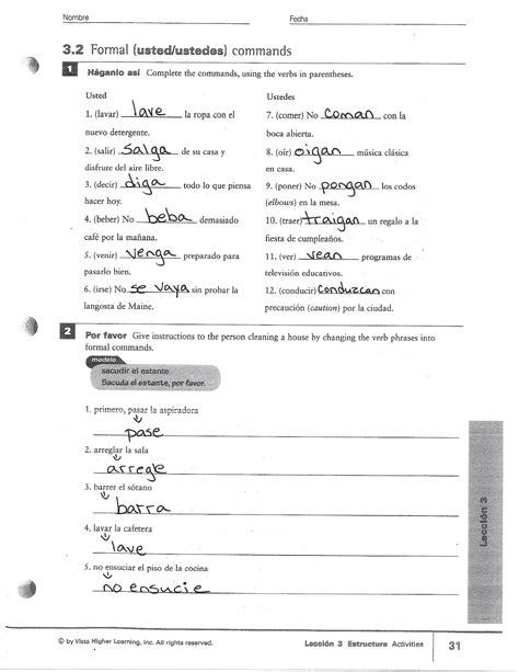 Spanish 3 Exam Study Guide