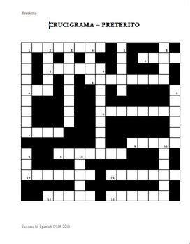 Spanish Answers Activity 1 Crucigrama