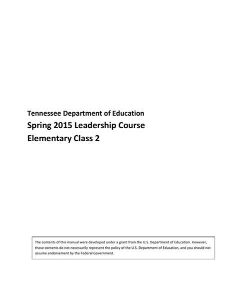 Spring 2015 Tcap Achievement Test Administration Manual