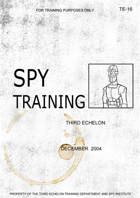 Spy Training Manual