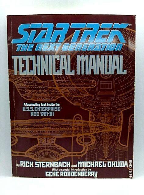 Star Trek The Next Generation Technical Manual By Michael Okuda 1991 10 30