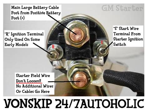 Starter Motor Wiring Connections