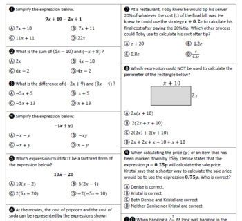 State 7th Class Math Study Guide