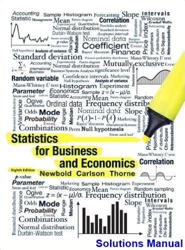Statistics For Business Economics Newbold Solutions Manual