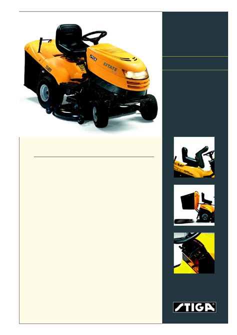 Stiga Estate Mower Parts Manual