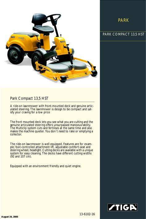 Stiga Park 2016e User Manual