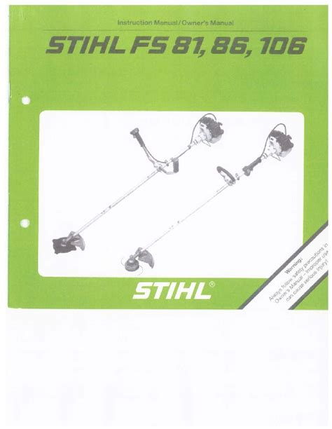 Stihl Fs 81 Owner Manual