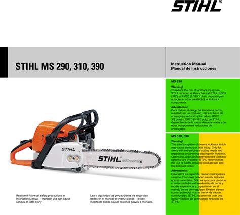 Stihl Ms290 Repair Manual