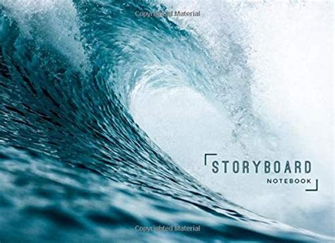 Storyboard Notebook 8 25 X 6 In 6 Panel 16 9 250 Pages Ocean Wave Theme