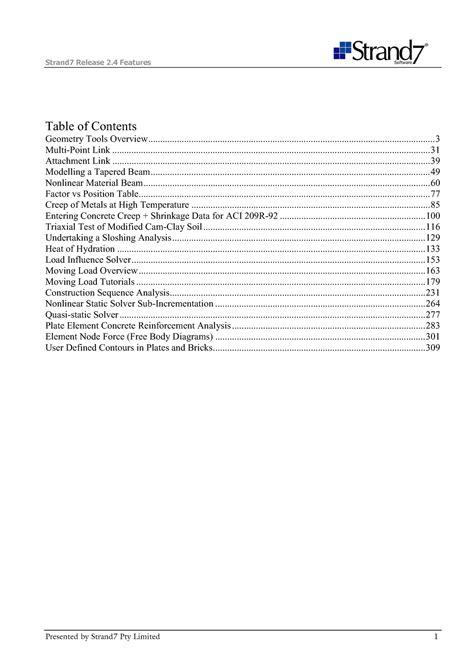 Strand7 Manual