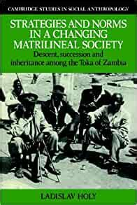 Strategies & Norms, Matrilineal Soc: Descent, Succession and Inheritance among the Toka of Zambia (Cambridge Studies in Social and Cultural Anthropology)