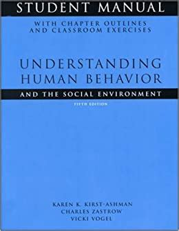 Student Manual For Zastrowkirst Ashmans Understanding Human Behavior And The Social Environment 8th