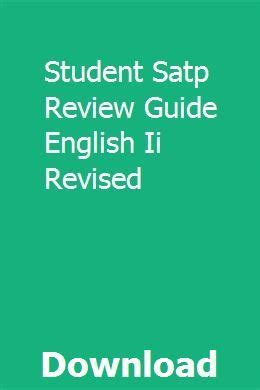 Student Satp Review Guide English Ii Revised