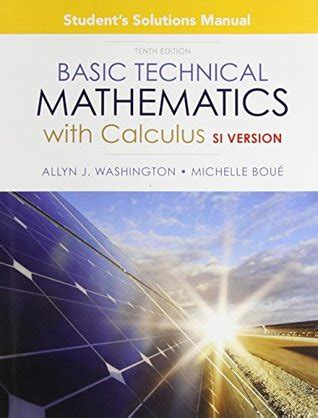 Student Solution Manual For Basic Technical Mathematics With Calculus