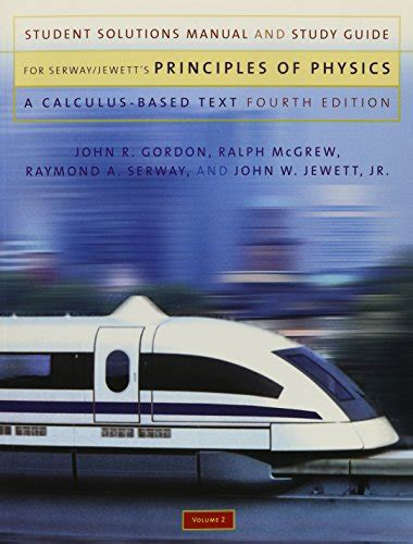 Student Solution Manual Study Guide Principles Physics