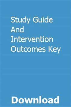 Study Guide And Intervention Outcomes Key