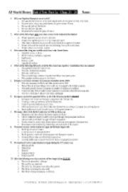 Study Guide Ap World History Mulford