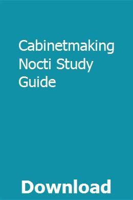 Study Guide For Cabinetmaking Nocti