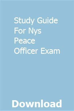 Study Guide For Nys Parole Officer Exam