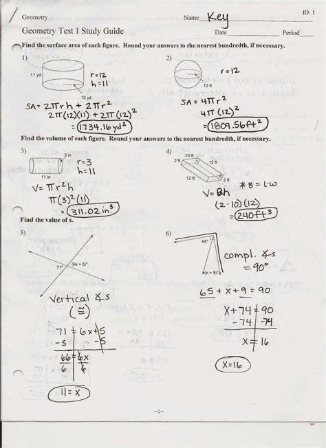 Study Guide Geometry