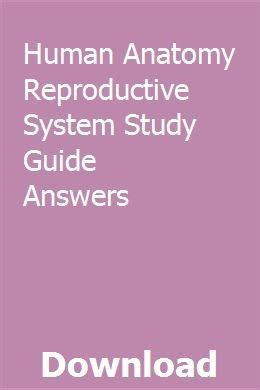 Study Guide Human Reproduction Answers