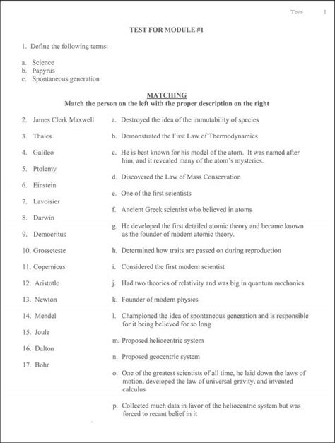 Study Guide Module 3 Physical Science