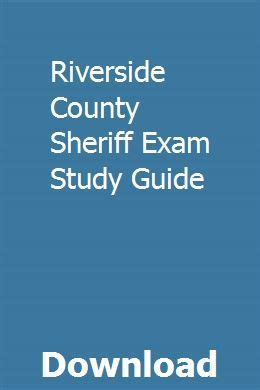 Study Guide Sheriff Test Riverside