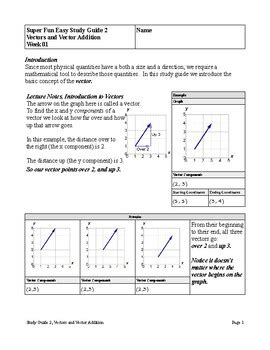 Study Guide Vector Addition
