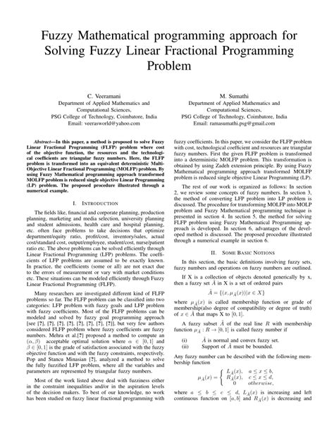 Study on Mathematical Programming Problems: A Fuzzy Approach