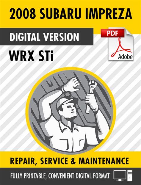 Subaru Impreza 2008 2010 Factory Repair Service Manual