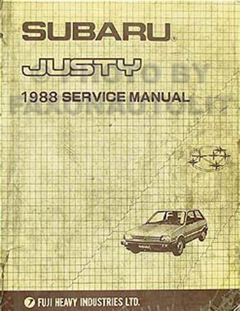 Subaru Justy Factory Repair Manual