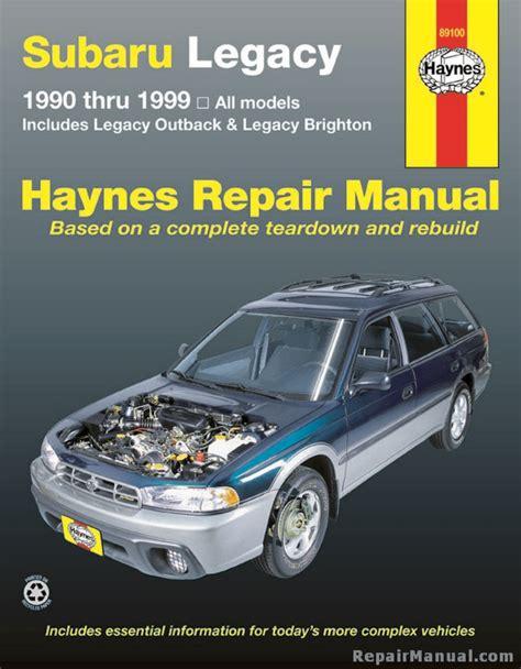 Subaru Legacy Service Repair Workshop Manual 1999