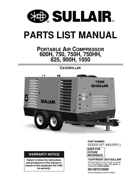 Sullair 750 Compressors Owner Manual