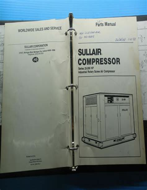 Sullair Compressor Service Manual