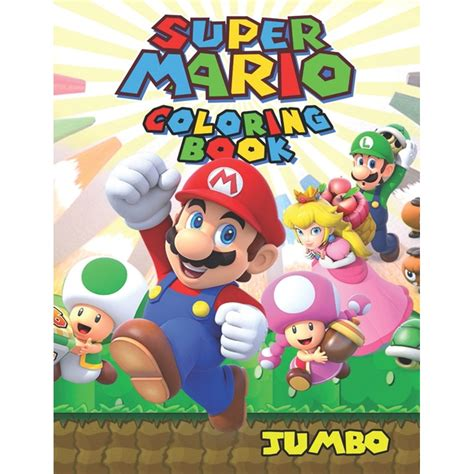 Super Mario Coloring Book Super Jumbo Book For Kids Aged 3 10