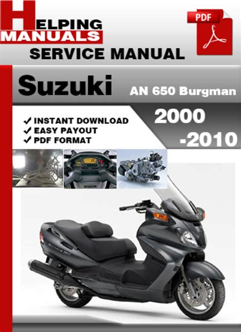 Suzuki An 650 Burgman 2010 Factory Service Repair Manual
