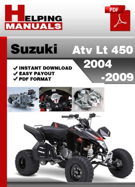 Suzuki Atv Lt 450 2004 2009 Service Repair Manual