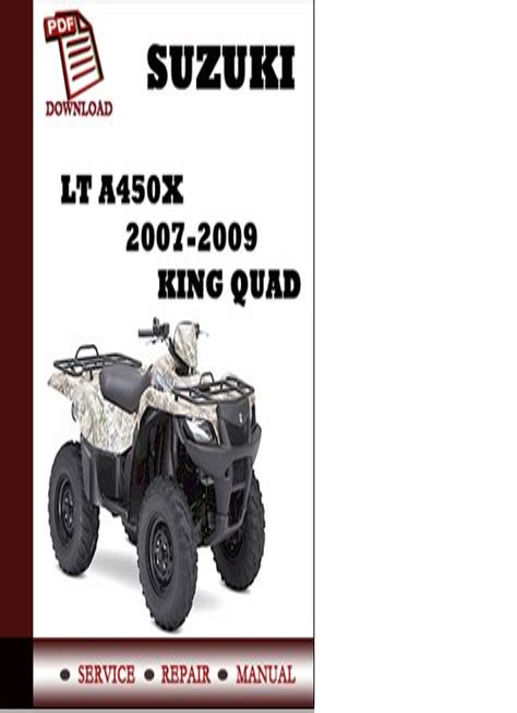 Suzuki Atv Lt 450 2007 Factory Service Repair Manual