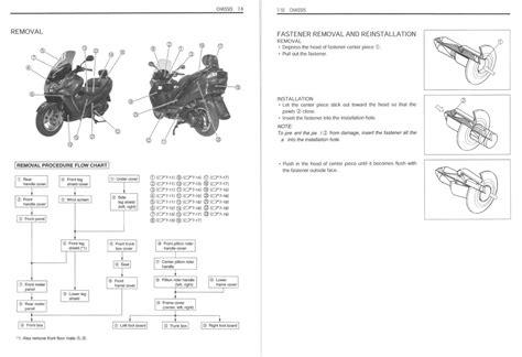 Suzuki Burgman An 400 Service Manual
