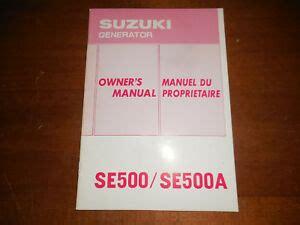 Suzuki Generator Se500a Manual