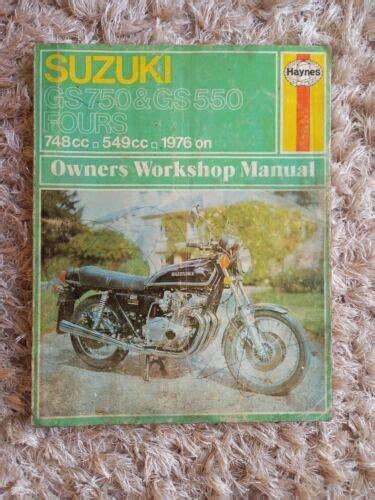 Suzuki Gs550 750 7682 Haynes Repair Manual