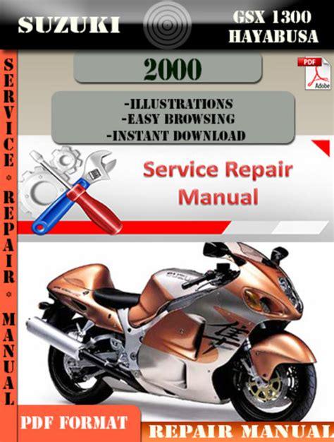 Suzuki Gsx 1300 Hayabusa 2000 Digital Service Repair Manual