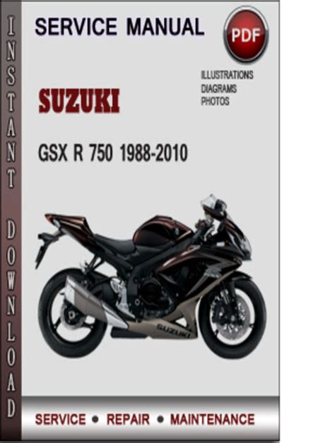 Suzuki Gsx 750 1990 Digital Factory Service Repair Manual