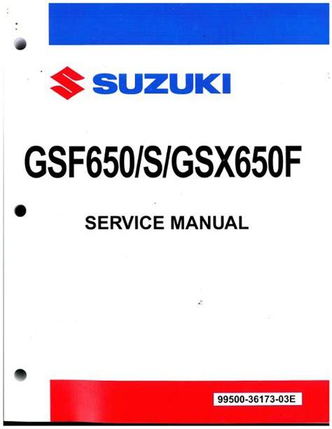Suzuki Gsx650f Motorcycle Service Repair Manual 2005 2008