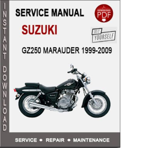 Suzuki Gz250 Service Repair Workshop Manual 1999 2009