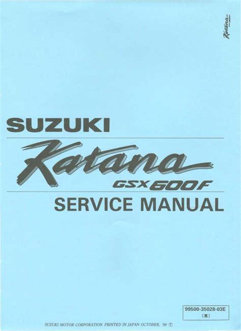 Suzuki Katana 600 Service Manual