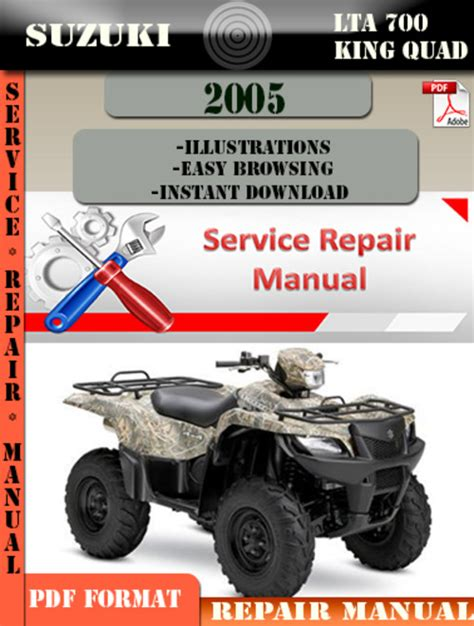 Suzuki Lta 700 King Quad 2005 Digital Service Repair Manual