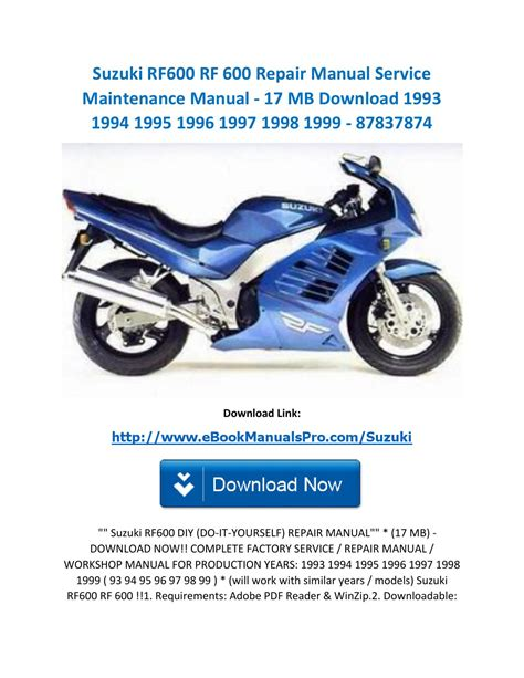 Suzuki Rf600 Manual