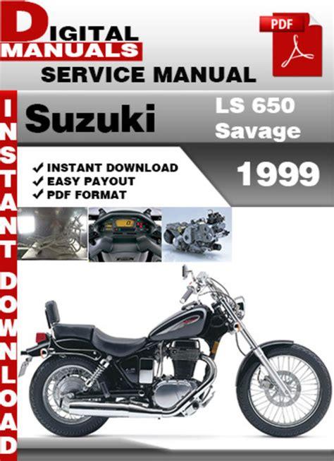 Suzuki Savage Factory Service Manual