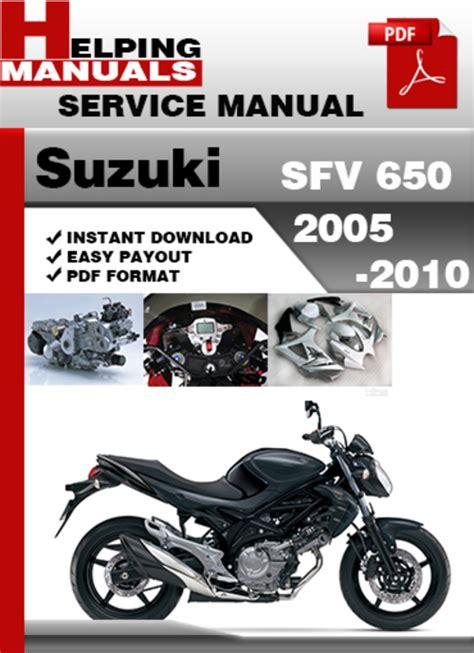 Suzuki Sfv650 Owner Manual